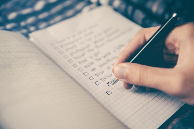 To Do List with Pen and Paper